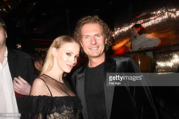 Sonia Gleis and Nicolas Mereau attend Hopital Necker Children XMas Party at VIP Room Theater on December 16 2019 in Paris France