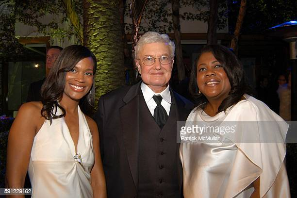 Sonia Hammelsmith Rober Ebert and Chaz Ebert attend Vanity Fair Oscar Party at Morton's Restaurant on February 27 2005 in Los Angeles California