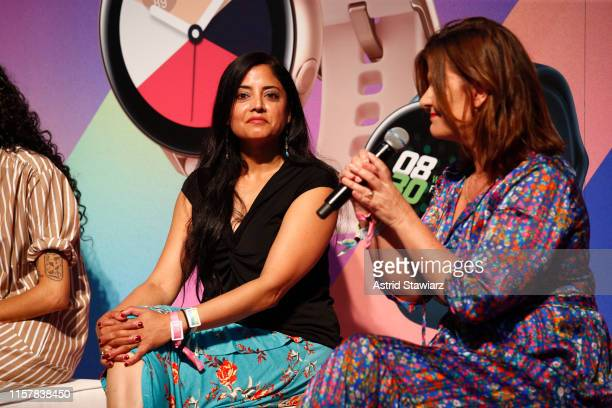 Sonia Hunt and Jill Blakeway speak onstage during POPSUGAR Play/Ground at Pier 94 on June 23, 2019 in New York City.