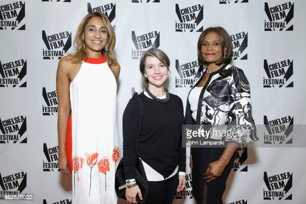 Sonia JeanBaptiste Domenica CameronScorsese and Ingrid JeanBaptiste attend 2017 Women in Power Benefit on October 18 2017 in New York City