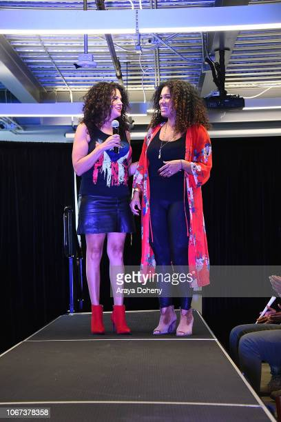 Sonia Kang and Delia Douglas attend the Culture Friendship By Multiculti Corner Mixed Up Clothing Fashion Show on December 1 2018 in Marina del Rey...