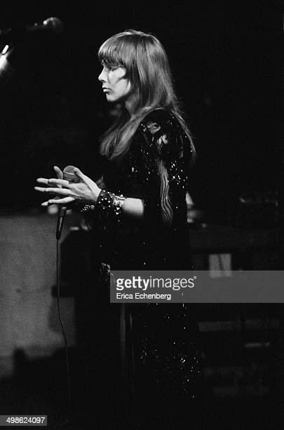 Sonia Kristina of Curved Air performs on stage at The Roundhouse London May 1976