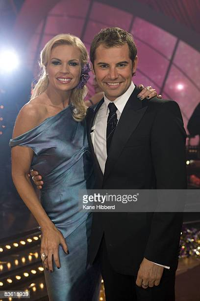 Sonia Kruger and Daniel MacPherson at the grand final event for Dancing With The Stars 2008 at the Channel Seven studios on November 8 2008 in...