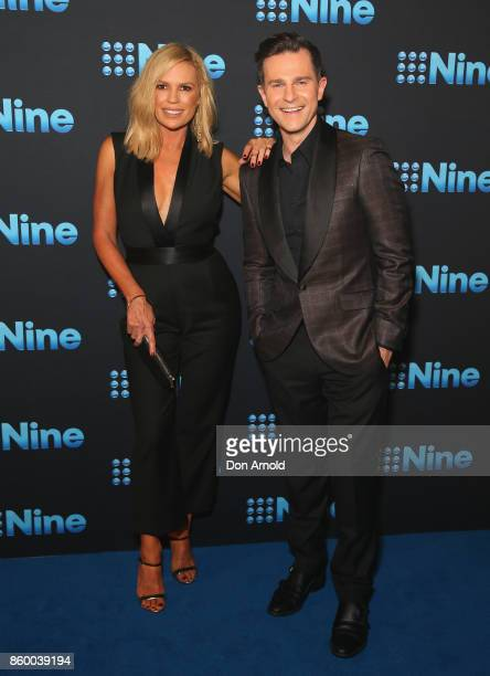 Sonia Kruger and David Campbell pose during the Channel Nine Upfronts 2018 event on October 11 2017 in Sydney Australia