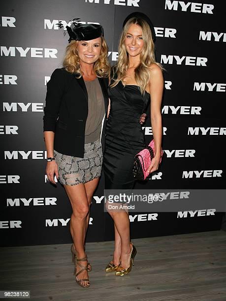 Sonia Kruger and Jennifer Hawkins attend Golden Slipper Day at the Rosehill Gardens on April 3 2010 in Sydney Australia