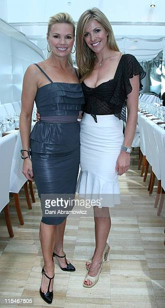 Sonia Kruger and Laura Csortan during Winter 2007 Fashion at Myer at The Restaurant The Domain in Sydney NSW Australia