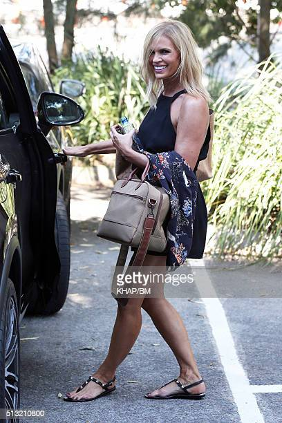 Sonia Kruger is seen leaving Sun Studio after filming The Voice on March 1 2016 in Sydney Australia