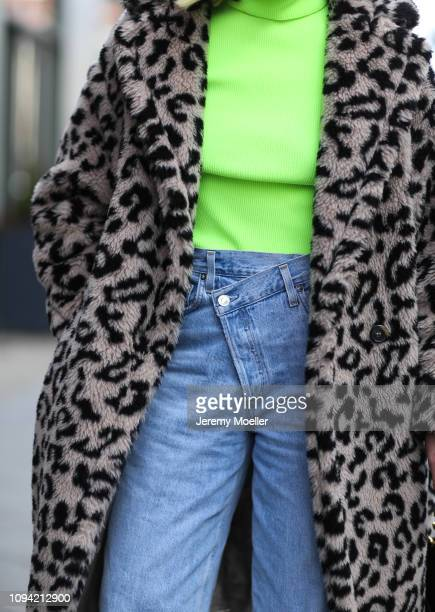 Sonia Lyson wearing a Max Mara coat during the Berlin Fashion Week Autumn/Winter 2019 on January 14 2019 in Berlin Germany