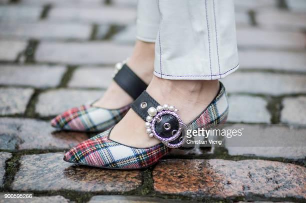Sonia Lyson wearing Miu Miu shoes Dior saddle bag green oversized cord blazer Mango Mango pants hoodie Koenig Souvenir Celine sunglasses on January 2...