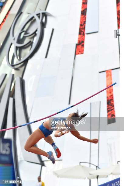 Sonia Malavisi of Italy during Women's High Jump Final during day four of the 2019 Summer Universiade on July 11 2019 in Naples Italy