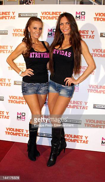 Sonia Monroy and Yola Berrocal attend 'Violines and Trompetas' theatre play premiere on May 10 2012 in Madrid Spain