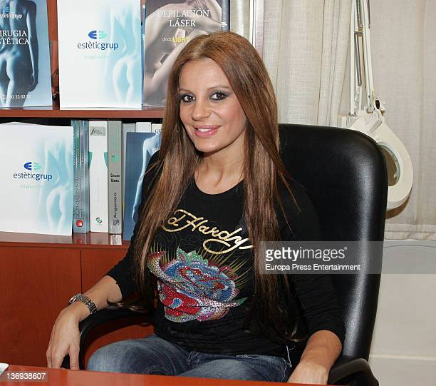 Sonia Monroy is seen at Estetic Group where she underwent treatment before having her breast implants replaced on January 12, 2012 in Barcelona,...