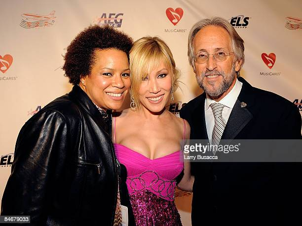Sonia Muckle Sun and President and CEO of The Recording Academy Neil Portnow arrive at the 2009 MusiCares Person of the Year Tribute to Neil Diamond...