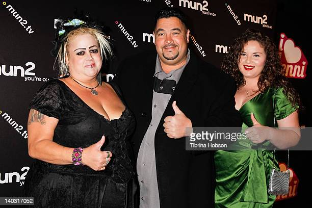 Sonia Pizarro, Lou Pizarro and Lyndah Pizarro attend the premiere of mun2's 'I Love Jenni' Season 2 at My House on March 1, 2012 in Hollywood,...