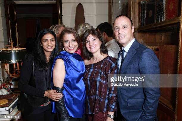 Sonia Ricord Muna Rihani AlNasser Ariel Lahmi and Corinne Lahmi during the Susan Gutfreund Hosts UN Women For Peace Association Reception on February...