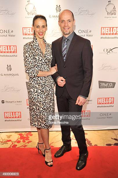 Sonia Rodriguez and Kurt Browning attend HELLO Canada Gala Celebrates Canada's Most Beautiful Gala at ShangriLa Hotel on May 22 2014 in Toronto Canada