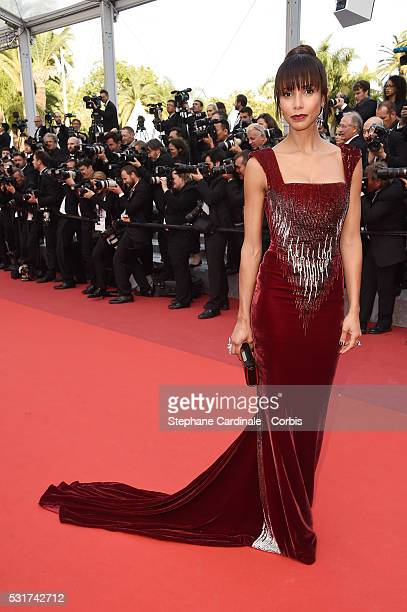 Sonia Roland attends the Loving premiere during the 69th annual Cannes Film Festival at the Palais des Festivals on May 16 2016 in Cannes France