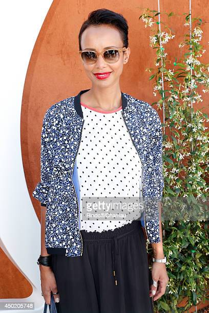 Sonia Roland attends the Roland Garros French Tennis Open 2014 Day 13 on June 6 2014 in Paris France