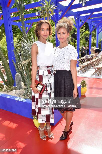 Sonia Rolland and her cousin attend the Bonpoint Haute Couture Fall/Winter 20172018 show as part of Haute Couture Paris Fashion Week on July 5 2017...