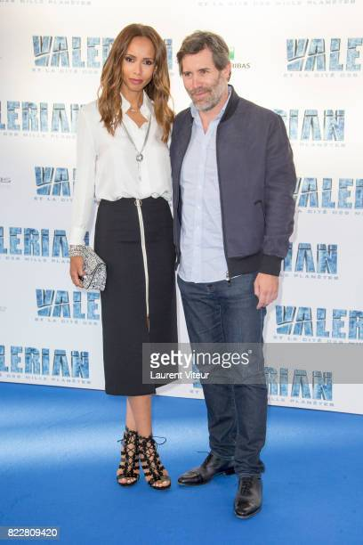 Sonia Rolland and Jalil Lespert attend 'Valerian et la Cite desMille Planetes' Paris Premiere at La Cite Du Cinema on July 25 2017 in SaintDenis...