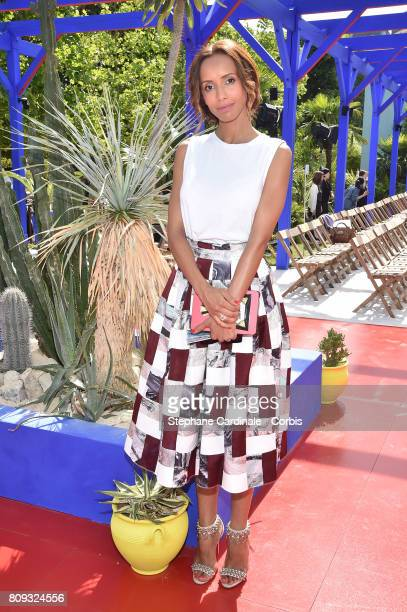 Sonia Rolland attends the Bonpoint Haute Couture Fall/Winter 20172018 show as part of Haute Couture Paris Fashion Week on July 5 2017 in Paris France