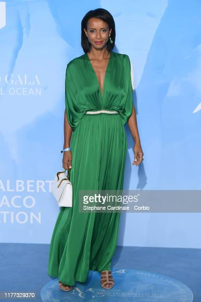 Sonia Rolland attends the Gala for the Global Ocean hosted by HSH Prince Albert II of Monaco at Opera of MonteCarlo on September 26 2019 in...