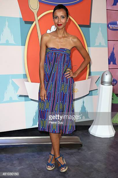 Sonia Rolland attends the launch of 'RatatouilleThe Adventure' at Disneyland Resort Paris on June 21 2014 in Paris France