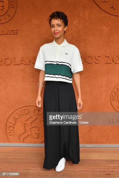 Sonia Rolland attends the Men Final of the 2018 French Open Day Fithteen at Roland Garros on June 10 2018 in Paris France