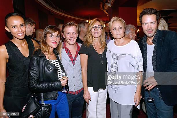 Sonia Rolland Victoria Bedos Alex Lutz Mathilde Seigner Muriel Robin and Nicolas Bedos attend Muriel Robin show Robin revient 'Tsoin Tsoin' Premiere...