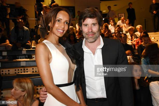 Sonia Rolland and Jalili Lespert attend the Stephane Rolland Haute Couture Fall/Winter 20172018 show as part of Haute Couture Paris Fashion Week on...