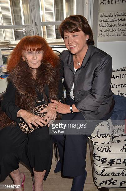 Sonia Rykiel and Martine Aubry attend the Clara and Marek Halter Celebrate The New Jewish Year 5772 'Under The Sign of Peace' in Their Appartment on...