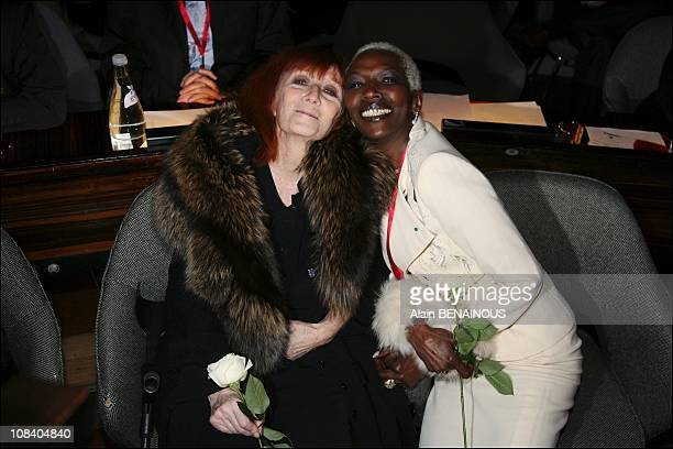 Sonia Rykiel and Princess Esther Kamatari in Paris France on March 22 2007