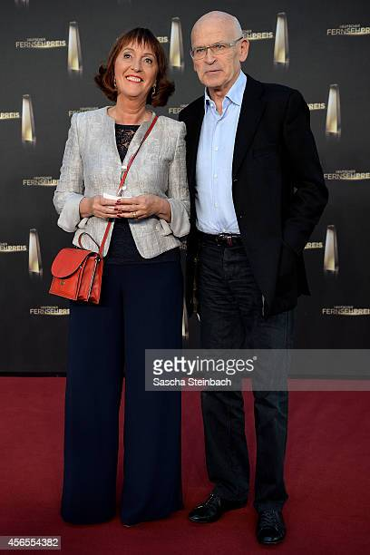 Sonia Seymour Mikich and Guenter Wallraff arrive at the 'Deutscher Fernsehpreis 2014' at Coloneum on October 2 2014 in Cologne Germany