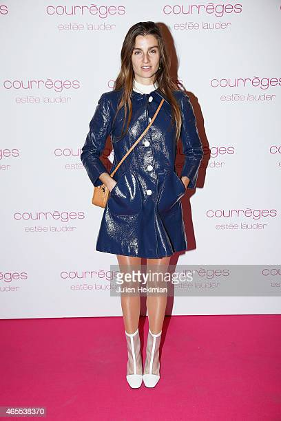Sonia Sieff attends Courreges and Estee Lauder Dinner Party as part of the Paris Fashion Week Womenswear Fall/Winter 2015/2016 on March 7 2015 in...