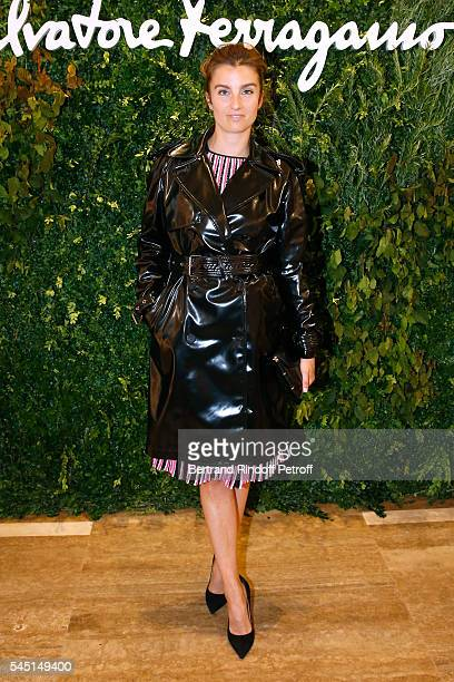 Sonia Sieff attends the Re Opening of Salvatore Ferragamo Boutique at Avenue Montaigne on July 5 2016 in Paris France