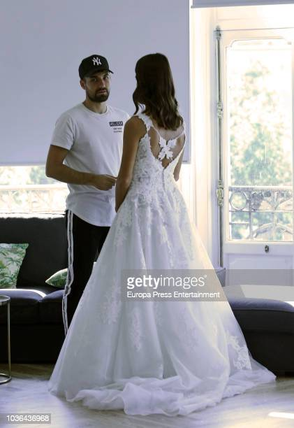 Sonia Suescun presents 2019 Luna Novias new collection accompanied by Alejandro Albala on September 20 2018 in Madrid Spain