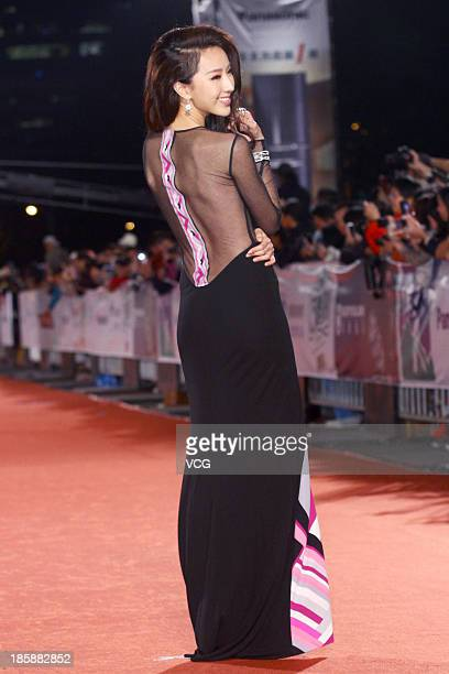 Sonia Sui attends the red carpet of the 48th Golden Bell Award on October 25 2013 in Taipei Taiwan of China