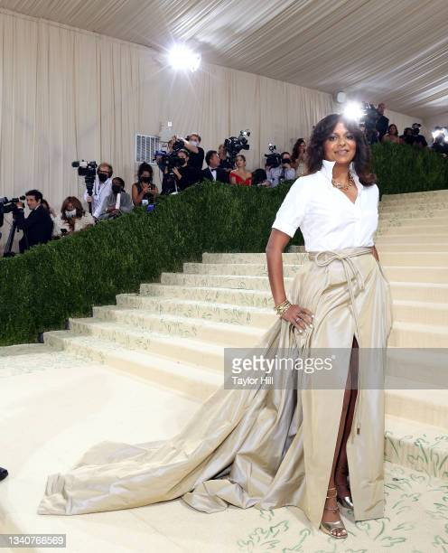 """Sonia Syngal attends the 2021 Met Gala benefit """"In America: A Lexicon of Fashion"""" at Metropolitan Museum of Art on September 13, 2021 in New York..."""
