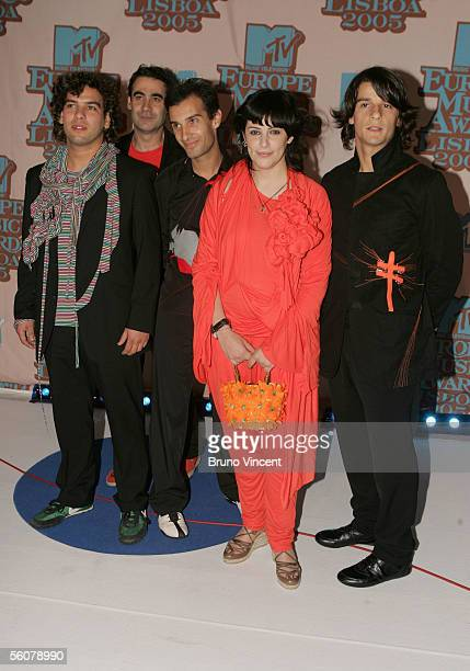 Sonia Tavares and her band The Gift arrive at the 12th annual MTV Europe Music Awards 2005 at the Atlantic Pavilion on November 3 2005 in Lisbon...