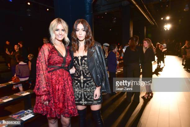 Sonia Young and Chloe Bennet attend Tadashi Shoji show at New York Fashion Week at Gallery 1 Skylight Clarkson Sq on September 7 2017 in New York City