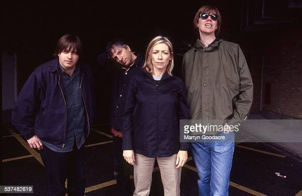 Sonic Youth group portrait London United Kingdom 1989 LR Steve Shelley Lee Ranaldo Kim Gordon Thurston Moore