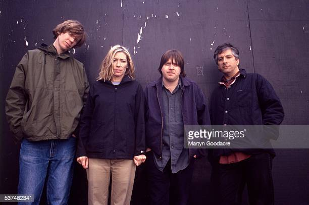 Sonic Youth group portrait London United Kingdom 1989 LR Thurston Moore Kim Gordon Steve Shelley Lee Ranaldo