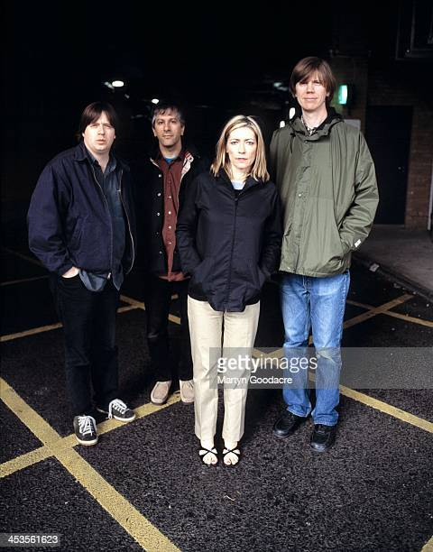 Sonic Youth group portrait London United Kingdom 1998 Steve Shelley Lee Ranaldo Kim Gordon Thurston Moore