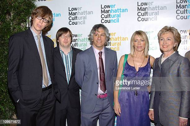 Sonic Youth, Kim Gordon and Hillary Clinton during Lower Manhattan Cultural Council Hosts The Downtown Dinner Annual Benefit Event at Cipriani's...