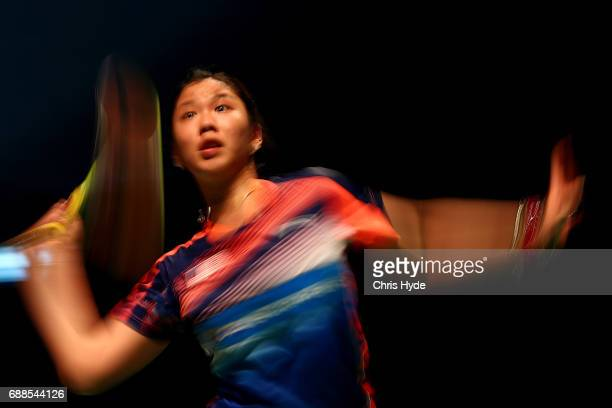Soniia Cheah of Malaysia competes in her Quarter Final match against Nozomi Okuhara of Japan during the Sudirman Cup at the Carrara Sports Leisure...