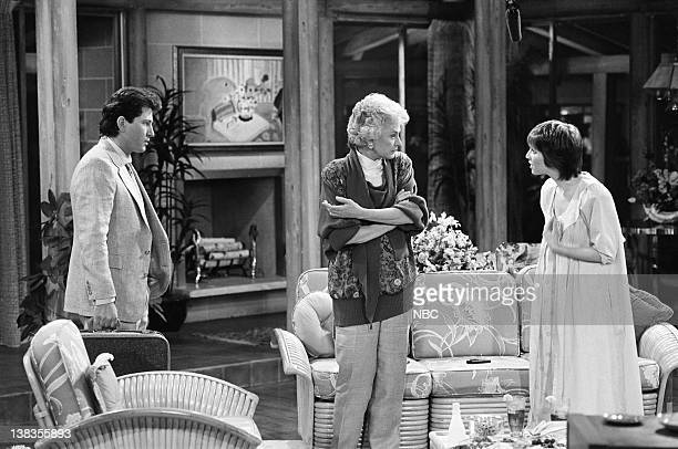"Son-in-Law Dearest"" Episode 23 -- Pictured: Jonathan Perpich as Dennis, Bea Arthur as Dorothy Petrillo Zbornak, Deena Freeman as Kate"