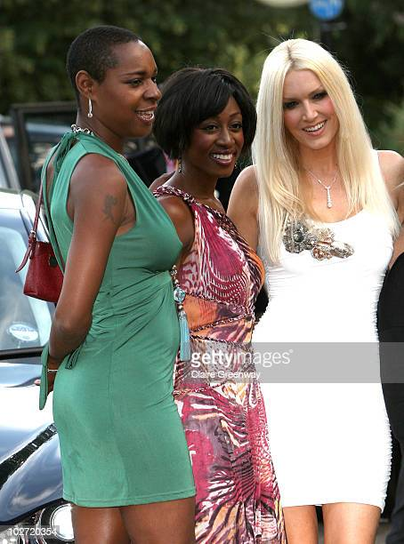 Sonique Beverley Knight and Emma Noble arrive at the Serpentine Gallery Summer Party in Kensington Gardens on July 8 2010 in London England