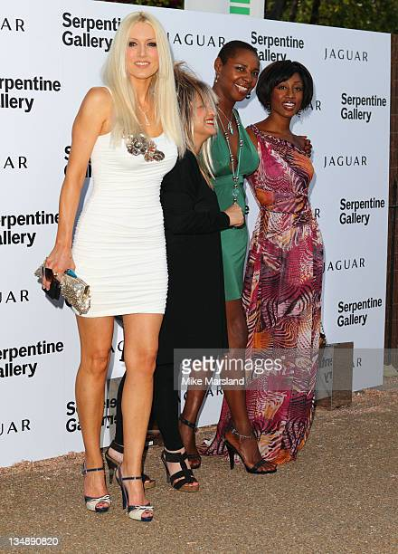 Sonique Beverley Knight Emma Noble and Elizabeth Emanuel attend the annual Serpentine Gallery summer party at The Serpentine Gallery on July 8 2010...