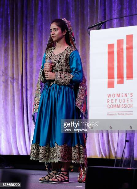 Sonita Alizadeh performs during the 2017 Women's Refugee Commission Voices Of Courage Awards at Cipriani 42nd Street on May 4 2017 in New York City