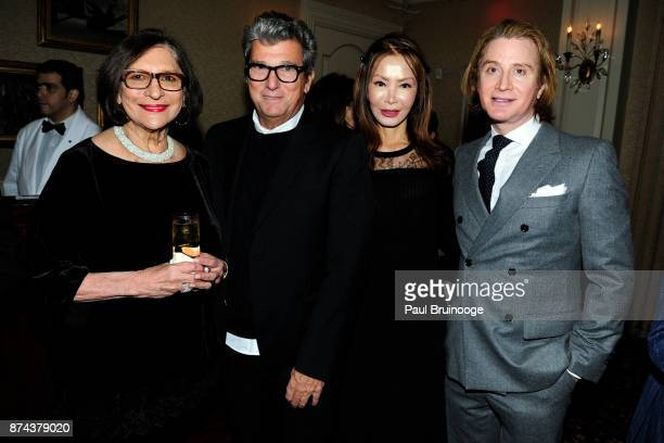 Sonja Caproni Andrew Rosen Yung Hee Kim and Eric Javits attend In Celebration of the life of Lee Mellis at 21 Club on November 14 2017 in New York...